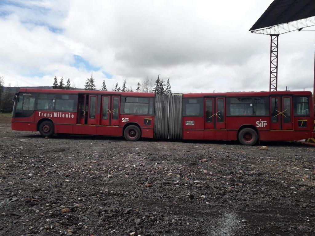 Chatarrización buses Tranmsilenio