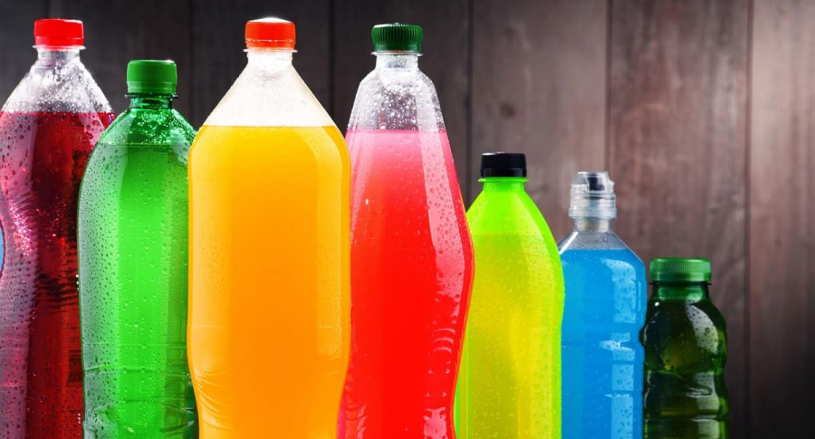 Envases de diferentes bebidas