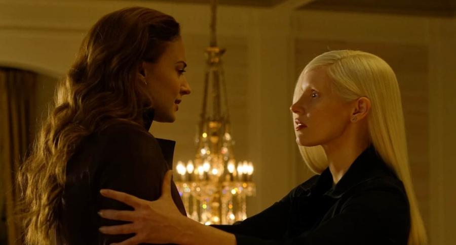 Sophie Turner y Jessica Chastain en 'X-Men: Dark Phoenix'