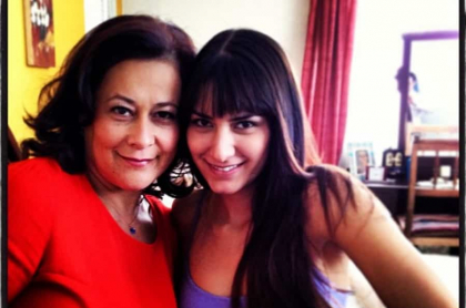 Alina Lozano y Linda Baldrich, actrices.