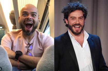 Carlos Vargas, presentador, y Juan Pablo Espinosa, actor.