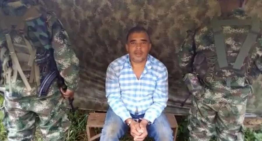 Carlos Ómar Ossa Velázquez, arquitecto secuestrado por disidencia de las Farc. Imagen Twitter El País