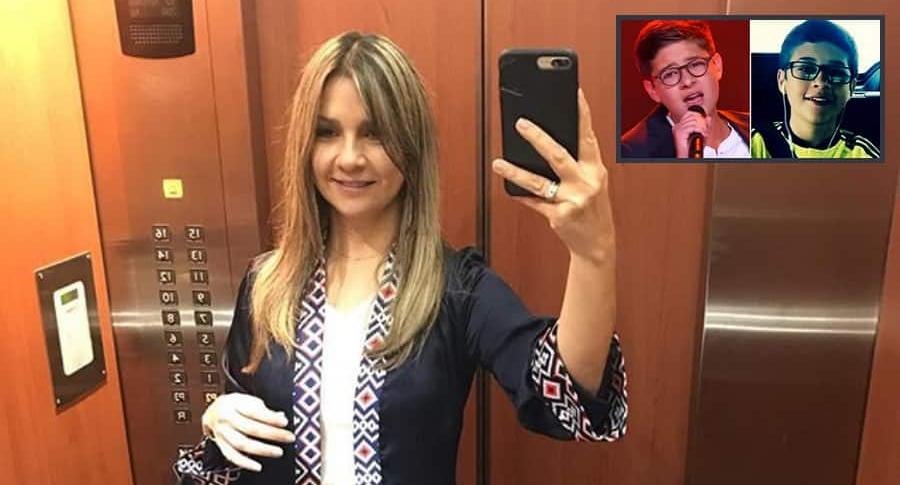 Vicky Dávila, periodista, y su hijo mayor, Simón Ruiz.