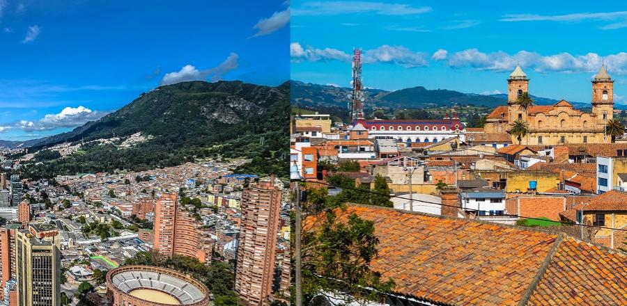 Bogotá (izquierda) y Zipaquirá (derecha). Imagen de referencia Getty