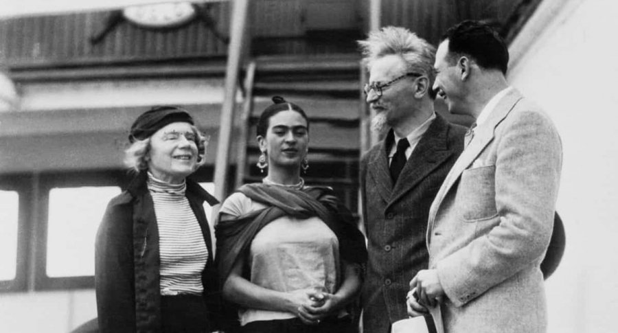 Leon Trotsky, Natalia Sedova y Frida Kahlo