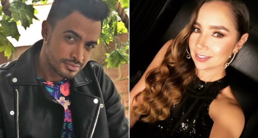 Jhon Álex Castaño y Paola Jara, cantantes.