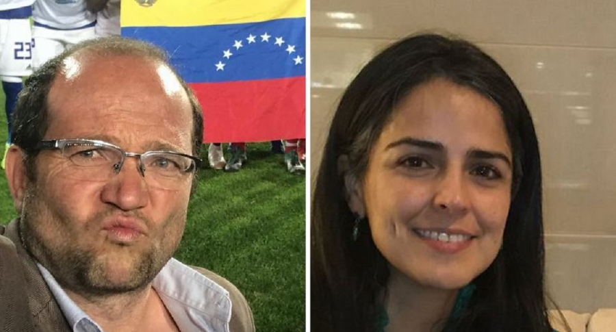 Daniel Samper y Claudia Palacios