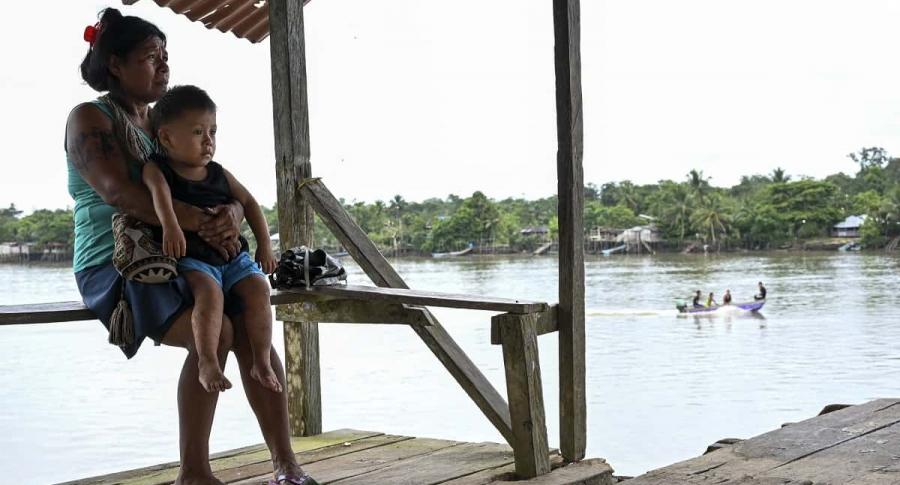 Familia indígena Wounaan, en Chocó´.