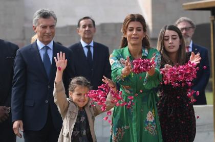 Mauricio Macri y Antonia Macri