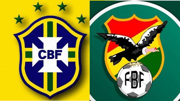 Selección de Brasil.Selección de Bolivia