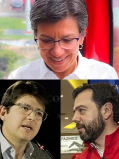 Claudia López, Miguel Uribe y Carlos Galán