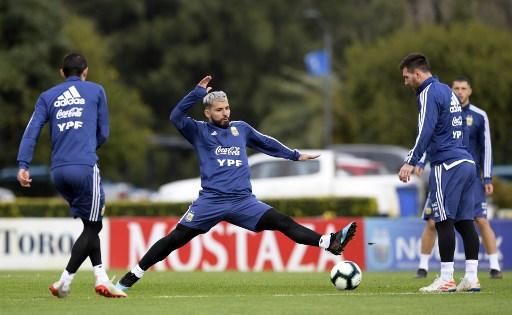 Lionel Messi, Sergio Agüero y Ángel Di María