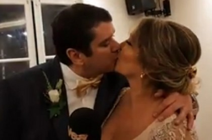 Martha Liliana Ruíz  y su esposo Alex Peterson