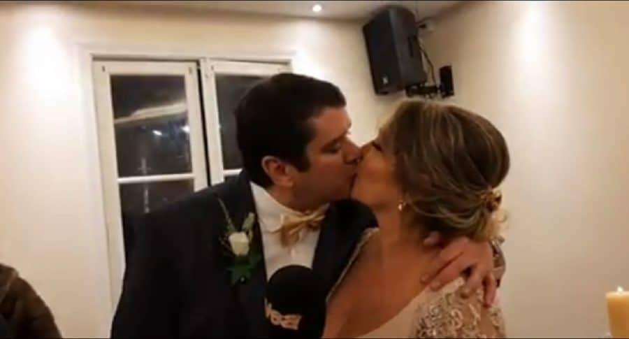 Martha Liliana Ruíz  y su esposo Alex Peterson