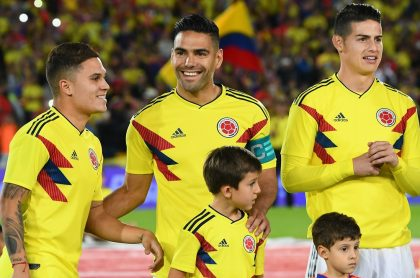 Quintero,Falcao y James