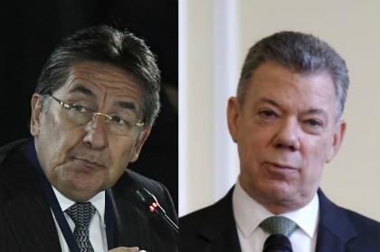 Néstor Humerto Martínez y Juan Manuel Santos