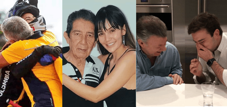 Famosos con sus padres