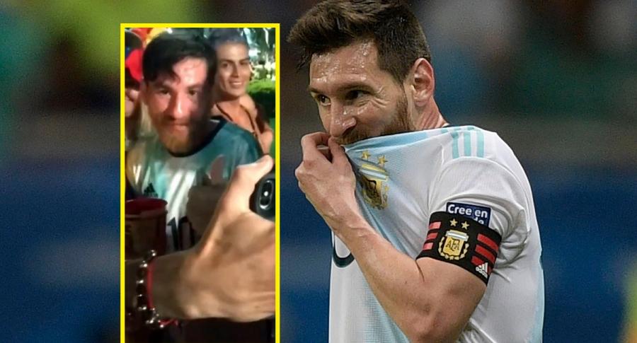 Lionel Messi y hombre que se parece a él
