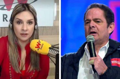 Vicky Dávila y Germán Vargas LLeras.