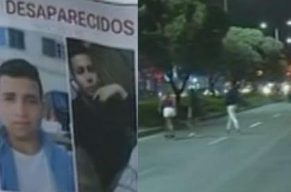 Jairo Sebastián Doncel y José Miguel Doncel desaparecidos en la Avenida Primero de mayo. Captura de pantalla Noticias Caracol.