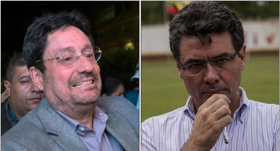 Francisco Santos y Alejandro gaviria