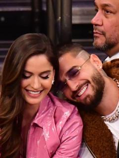 ¿La llama del amor sigue viva? Grabaron a Maluma y Natalia Barulich en Los Ángeles