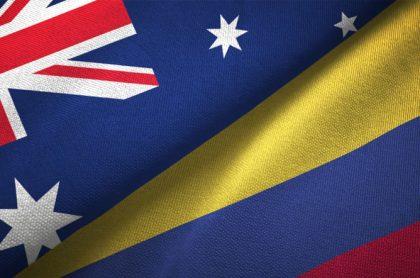 Banderas de Australia y Colombia