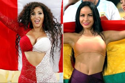 Hinchas de Perú y Bolivia