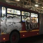Nuevos buses de Transmilenio vandalizados