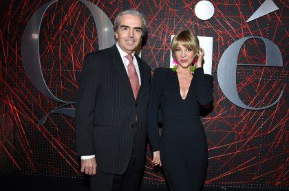 Edith González, actriz, con su esposo, Lorenzo Lazo.