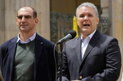 Jorge Mario Eastman e Iván Duque