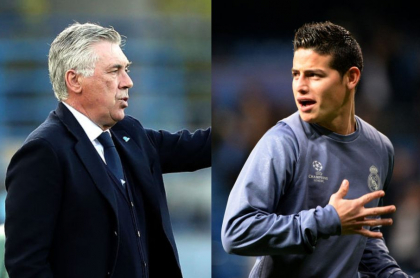 Ancelotti y James