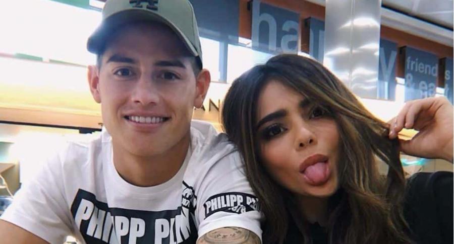 James Rodríguez, futbolista, y su hermana Juan Valentina Restrepo, 'youtuber'.
