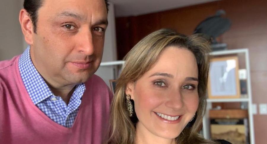Jorge Alfredo Vargas e Inés María Zabaraín, presentadores.