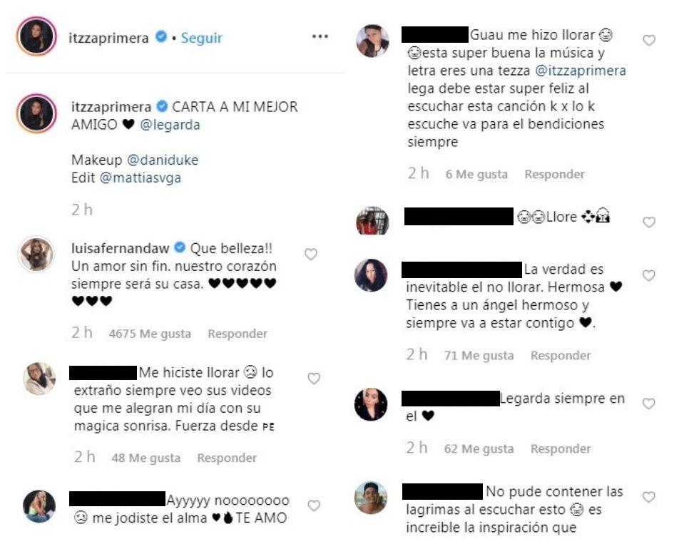 Comentarios post Itzza Primera
