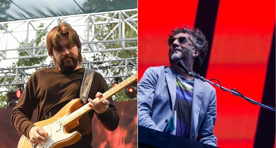 Juanes y Fito Páez, cantantes.
