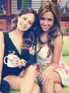Laura Acuña, Milena López y Tatiana Franco, presentadoras.