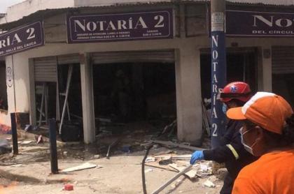 Explosión en Notaria de Yumbo, Valle