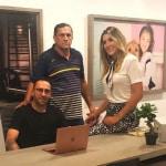 David Ospina y Daniela Ospina junto a su papá