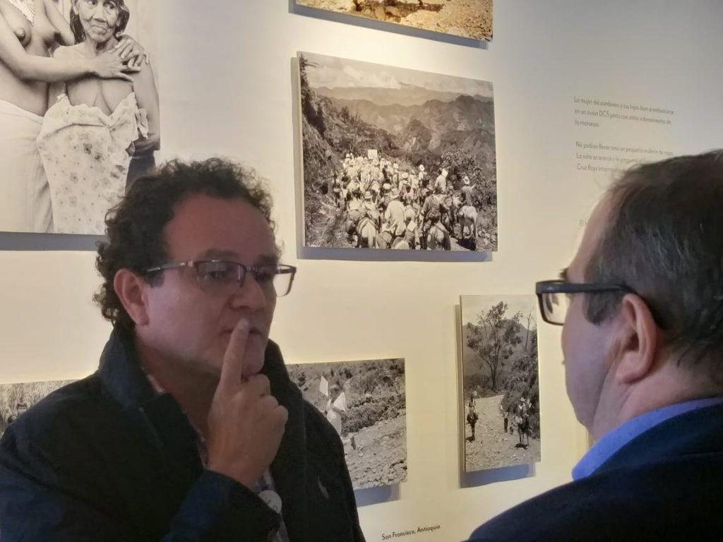 Jesús Abad Colorado y Rodrigo Londoño