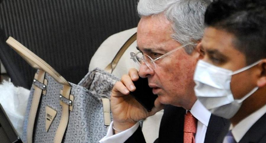 Álvaro Uribe en el Senado