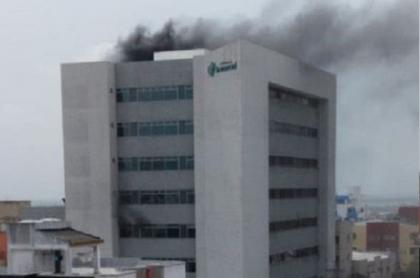 Incendio en clínica La Merced