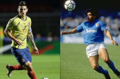 James y Maradona