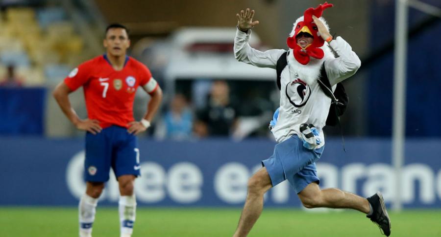 Hincha que ingresó al Chile vs. Uruguay de la Copa América 2019