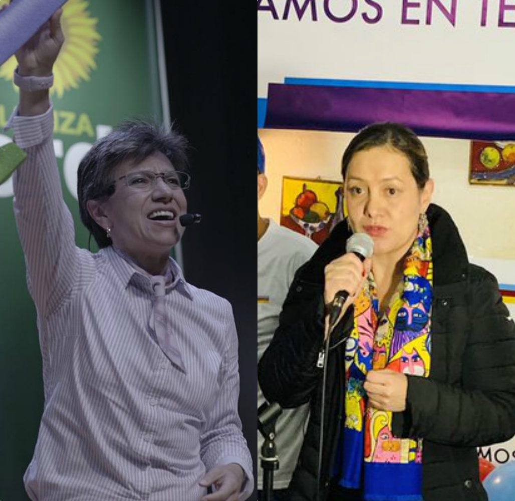 Claudia López y Ángela Garzón