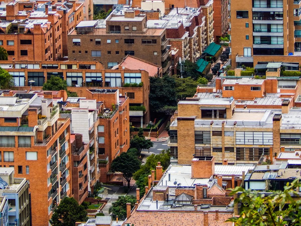 Vista panorámica de Bogotá.