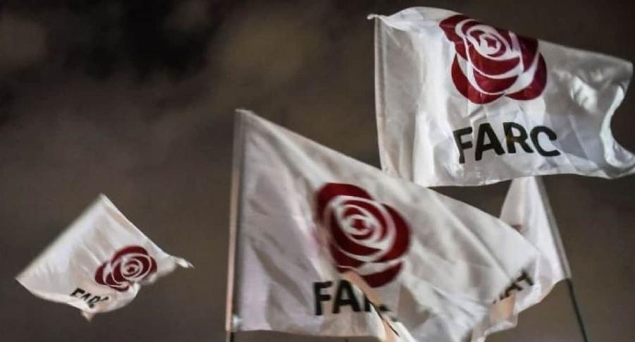 Banderas del partido de las Farc. Twitter @PartidoFarc