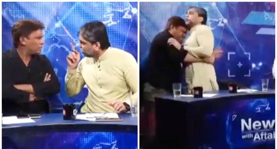 Político y periodista se golpean.