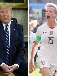 Donald Trump y Megan Rapinoe