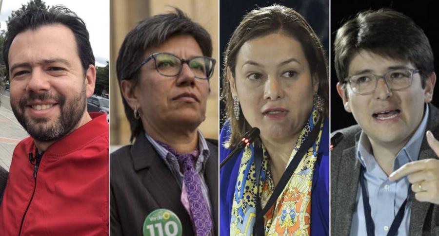 Carlos Fernando Galán, Ángela Garzón, Claudia López y Miguel Uribe Turbay